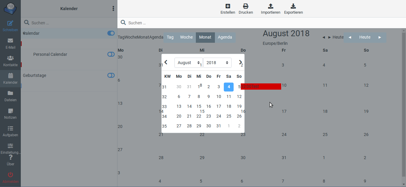 ⚓ T4247 Elastic: Garbled calendar view at Roundcube